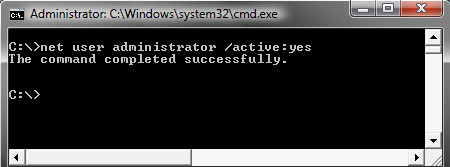 Activate Hidden Administrator Windows user