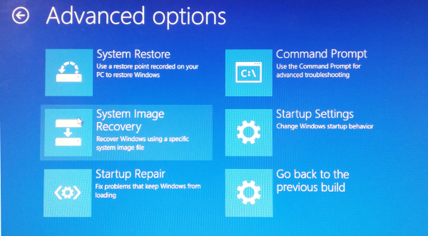 Windows 10 Advanced Boot Option Menu